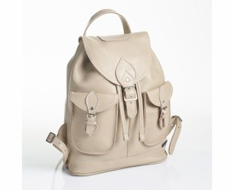 Сумка-рюкзак Taupe Double Pocket Leather Backpack