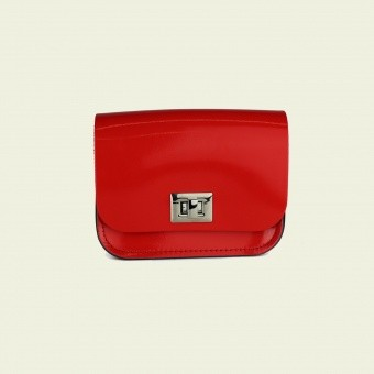 Косметичка Small Pixie Bag Patent Rosy Red