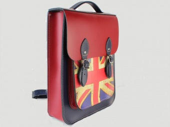 Сумка-рюкзак Portrait Leather Backpack Union Jack Print